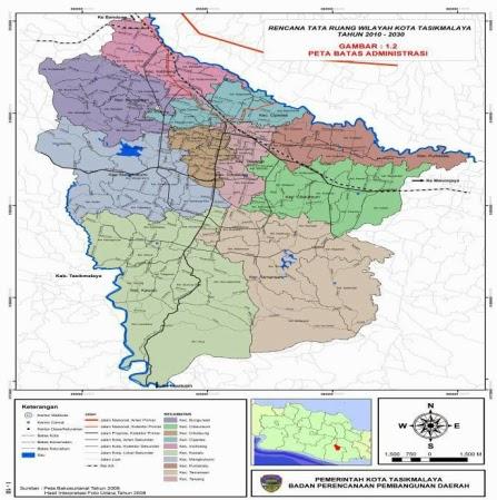 Peta Wilayah Kota Tasikmalaya