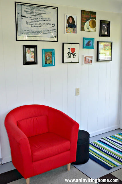 modern red chairs from Ikea