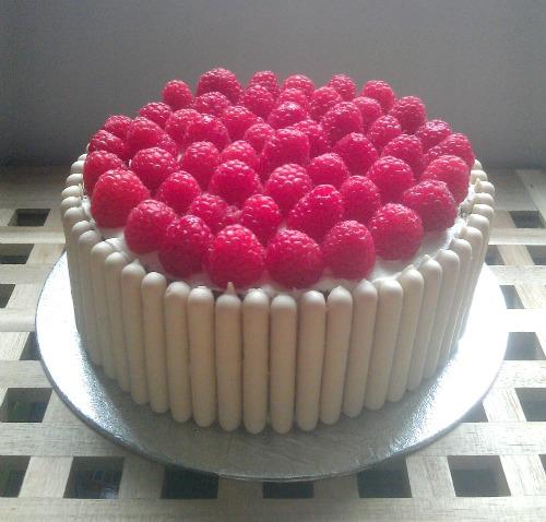 My Little Kitchen Raspberry and White Chocolate Cake