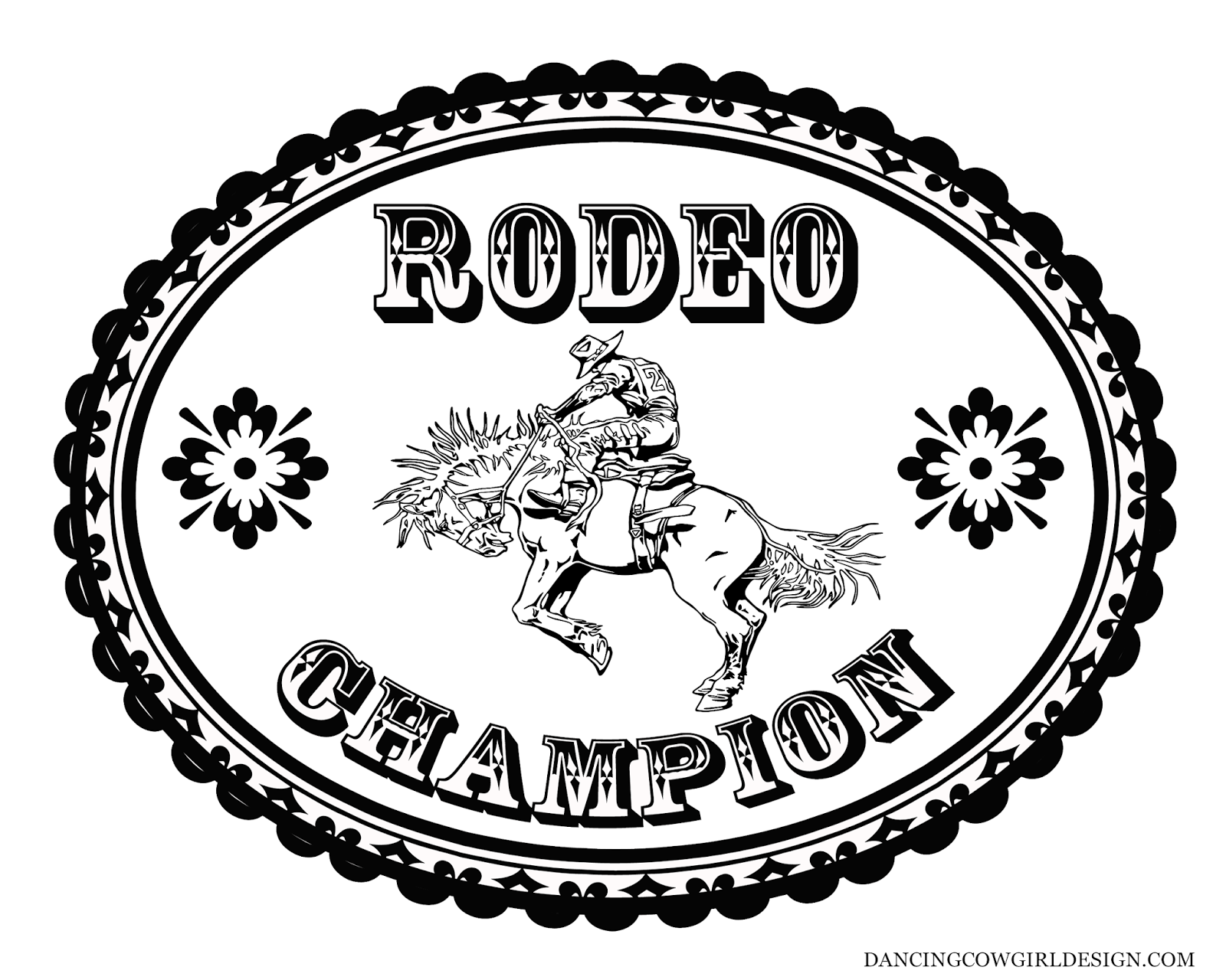 rodeo coloring pages coloring sheet cowboy rodeo bronc rider belt