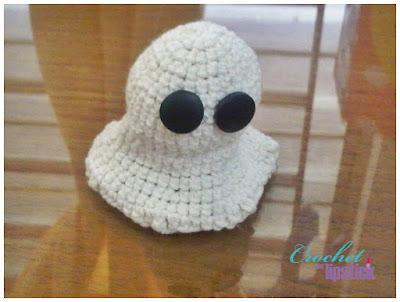 Amigurumi Boneka : Crochet and lipstick crochet ghost amigurumi boneka rajut hantu