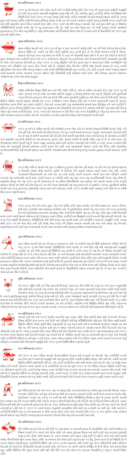 rashi bhavishya 2014 gujarati horoscope 2014 gujarati astrology 2014