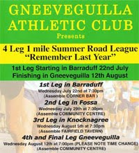 One Mile Race Series in Kerry...Every Wed...29th July - 12th Aug 2015