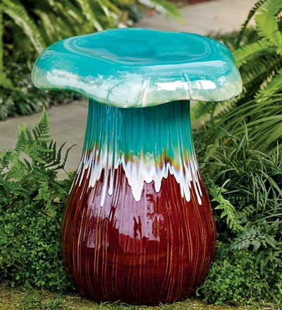 Captivating Mushroom Garden Stool From The Winterthur Catalog
