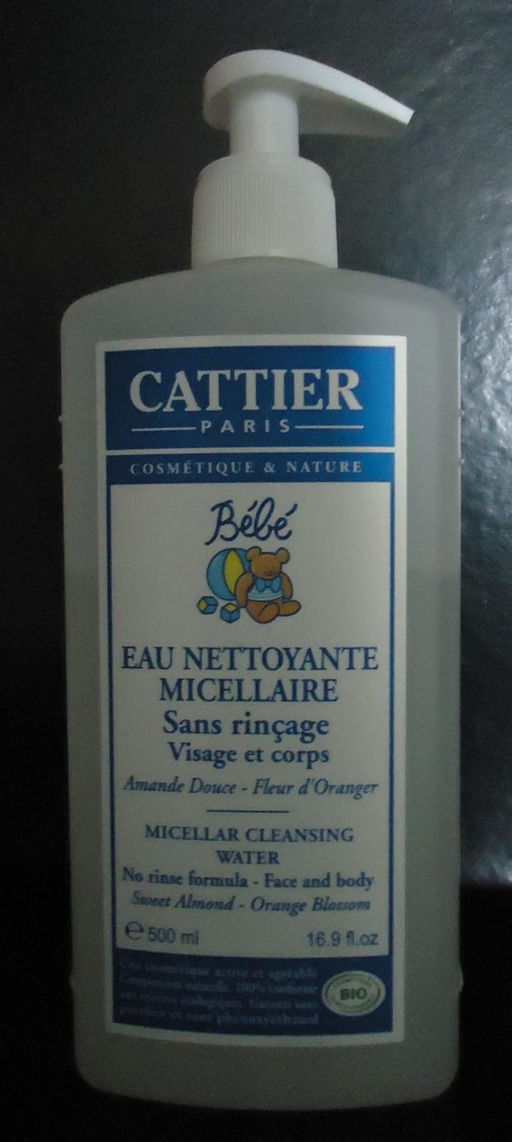 eau micellaire cattier bebe
