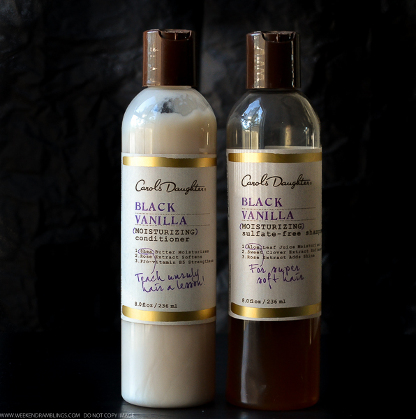 Carol's Daughter Black Vanilla Shampoo and Conditioner Review