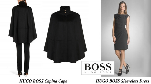 Queen Letizia's Hugo Boss Capina Cape And Hugo Boss Sleeveless Dress