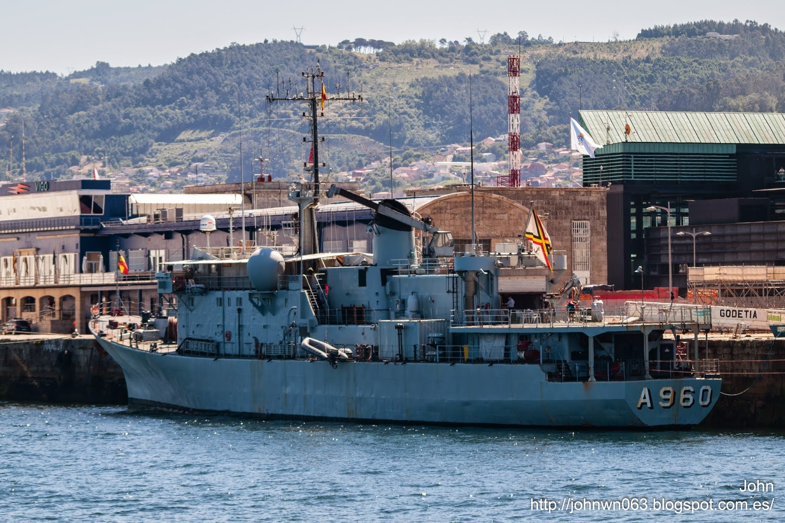 fotos de barcos, imagenes de barcos, godetia, armada belgica, vigo