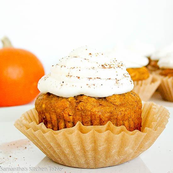 Lightened Up Pumpkin Cupcakes