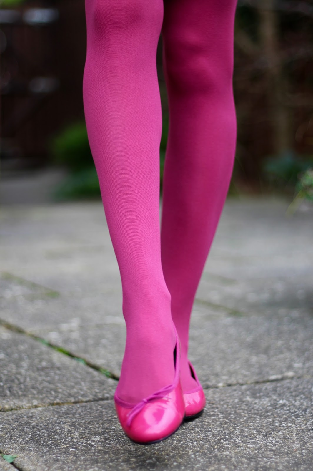 Simple But Fun Work Outfit Hot Pink Grey And Navy