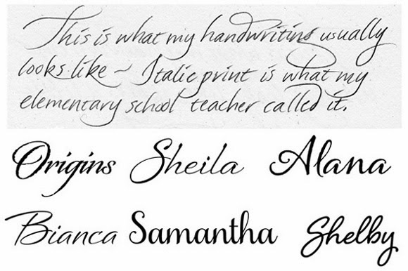 examples of cursive writing