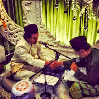 Amir Jahari, penyanyi, artis, hiburan, majlis kahwin, gambar kahwin