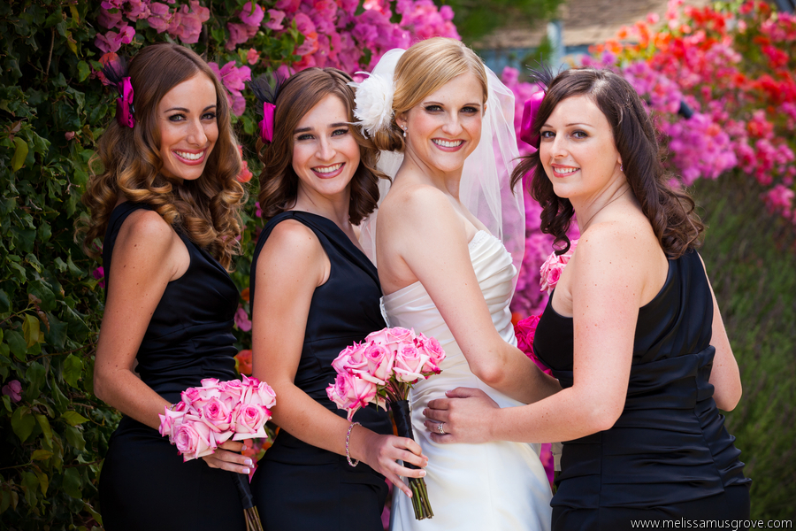 Pink Black And White Wedding La Fete Weddings