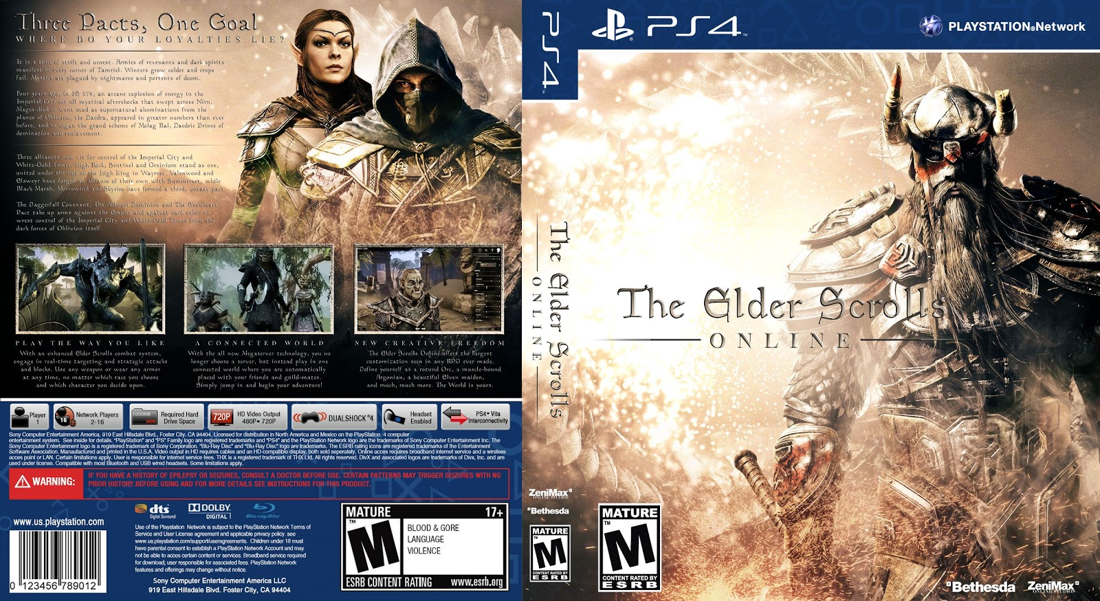 Capa The Elder Scrolls Online PS4