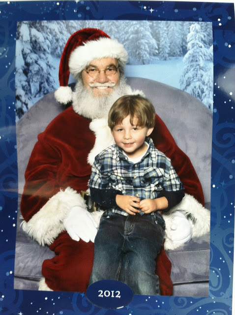 toddler boy and santa