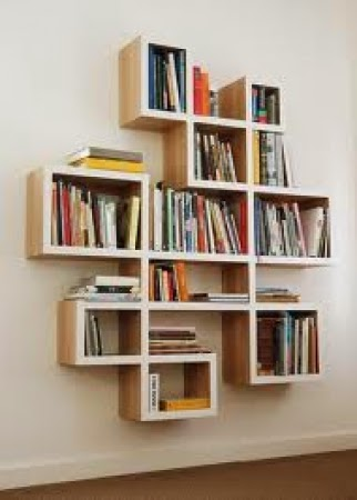 Wall book shelve rectanguler