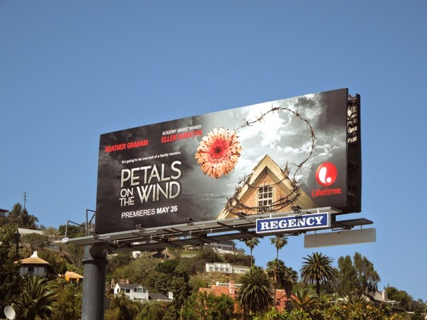 Petals on the Wind Lifetime movie billboard