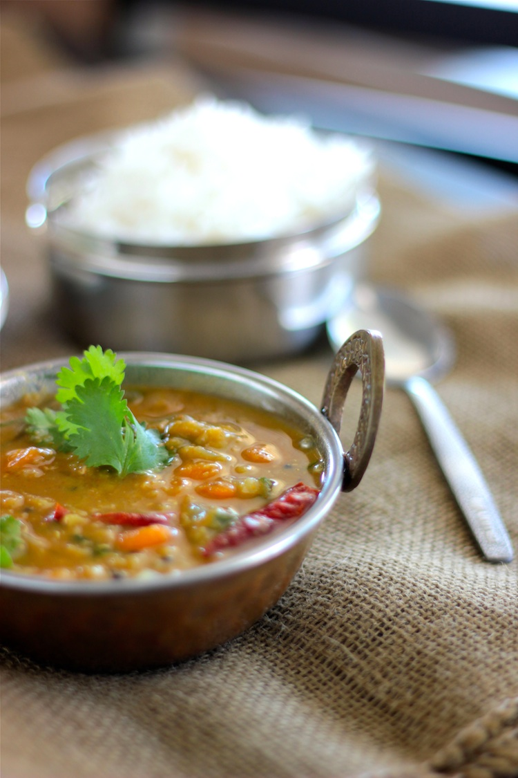 Blessings From My KitchenSambar- South Indian lentil and