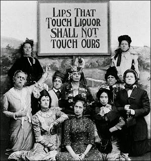 Vintage photo. Lips that touch liquor shall not touch ours