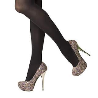 Court Glitter High Heels
