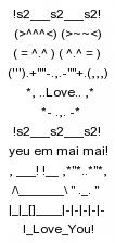 sms xếp hình tình yêu 1