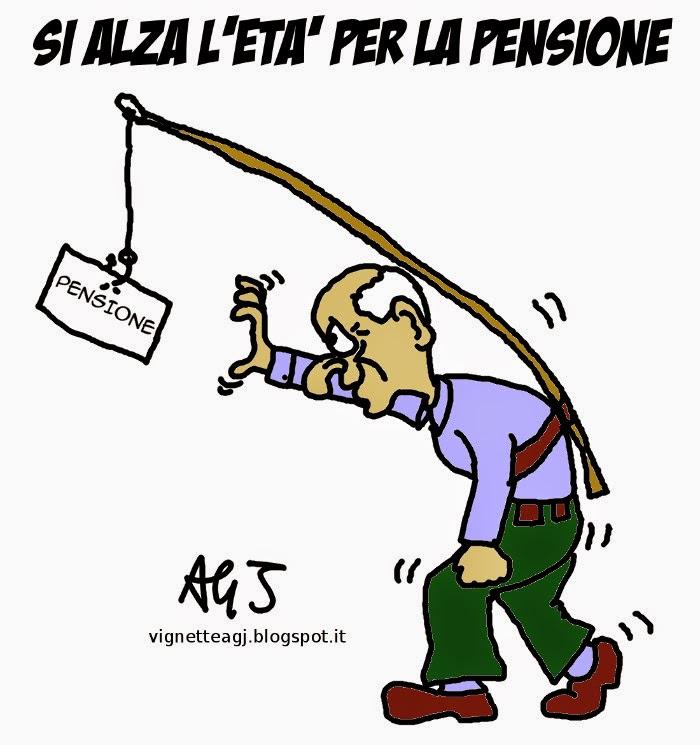 pensioni, anzianità, lavoro, satira, vignetta