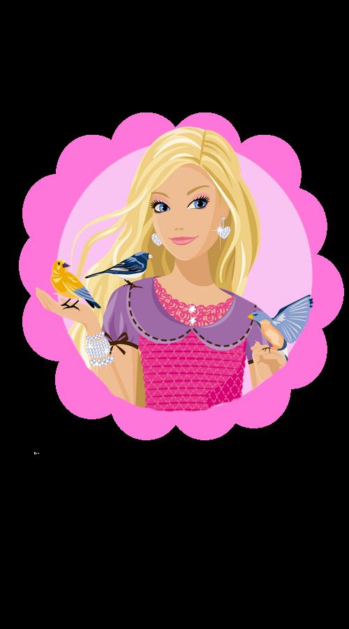 Toppers para cupcake Barbie