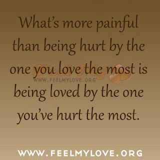 What's more painful than being hurt