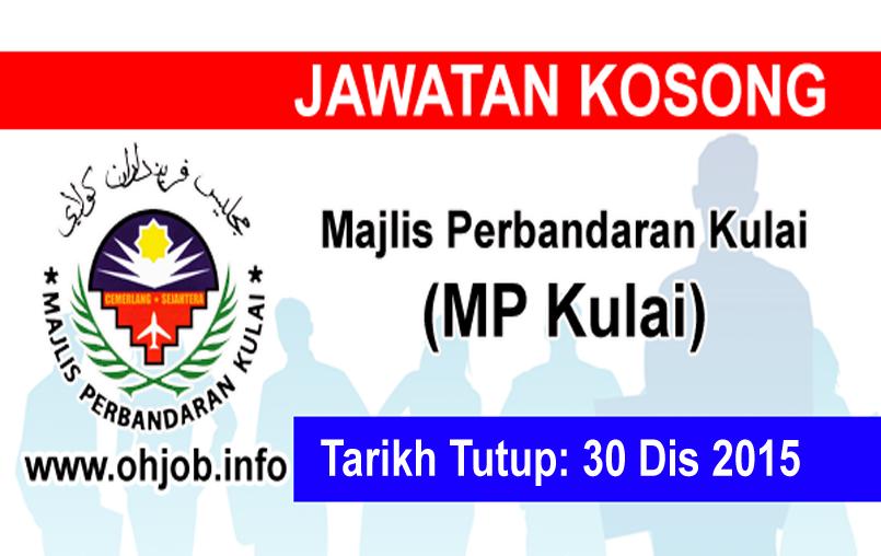 Jawatan Kerja Kosong Majlis Perbandaran Kulai (MPKulai) logo www.ohjob.info disember 2015