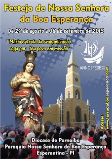 Programação do Festejo de Nossa Senhora da Boa Esperança 2013
