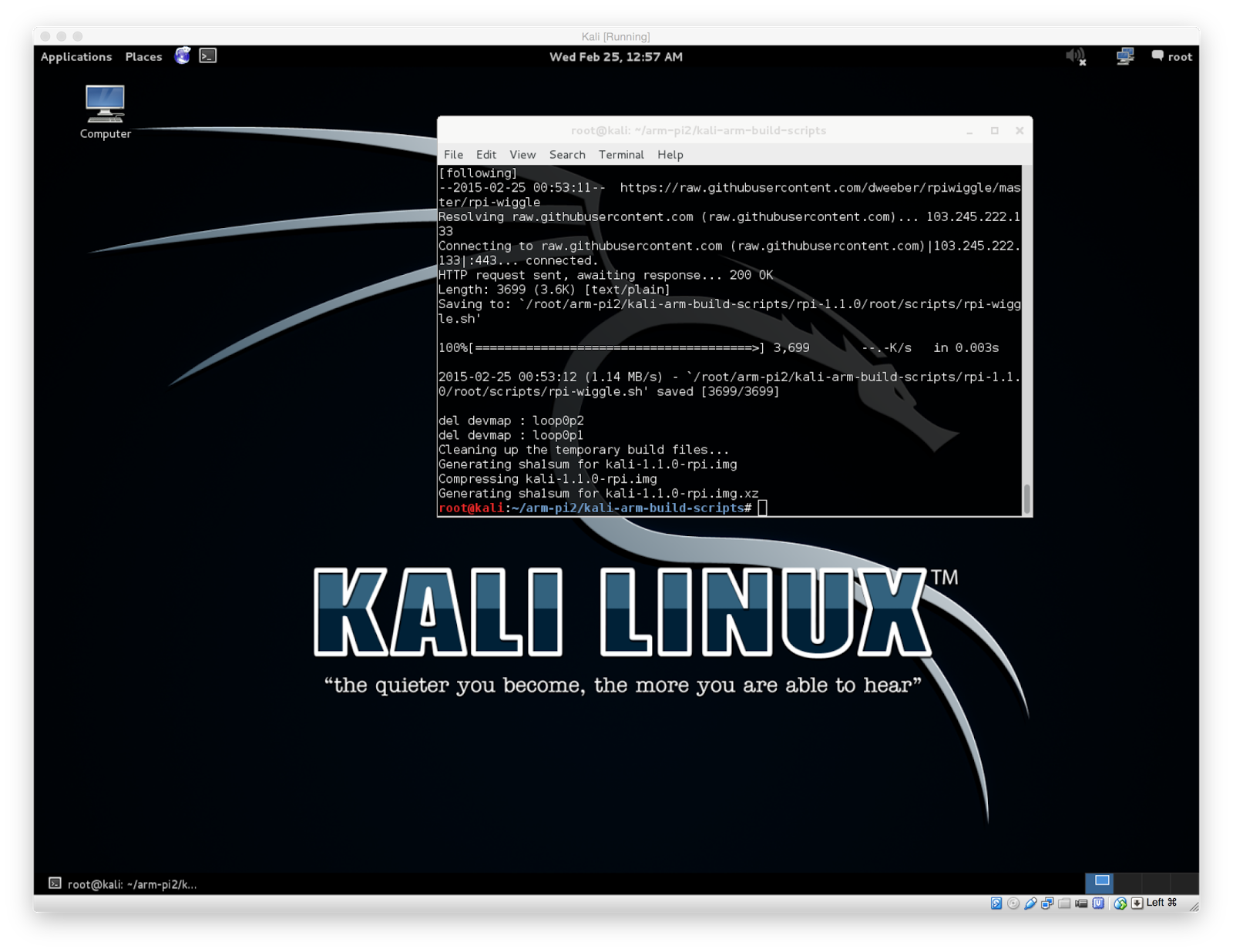 Kali linux raspberry pi 2 download image