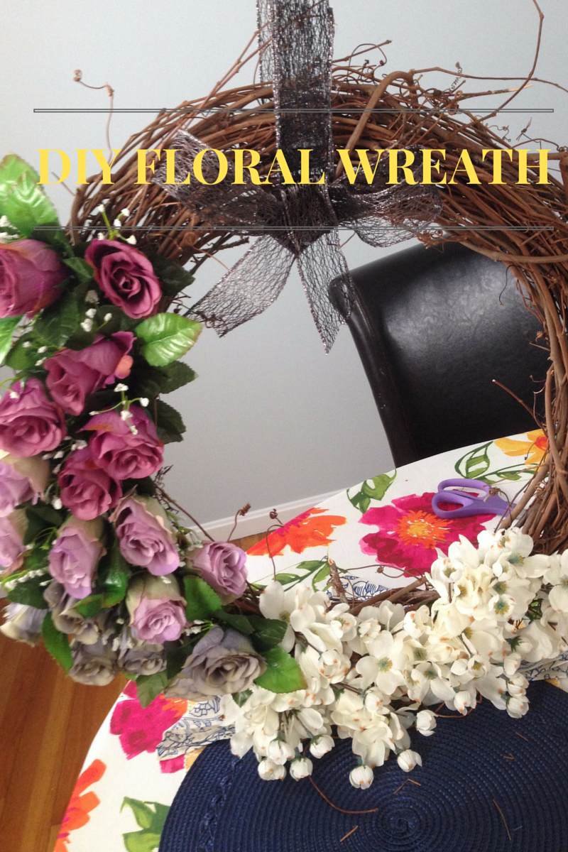 Musings by Candace Jean: DIY Floral Wreath for Outdoor Decor