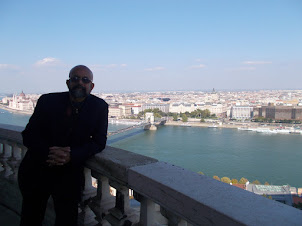 """Panoramic view of Budapest from top most  floor balcony of """"Hungarian National Gallery"""" in Budapest"""
