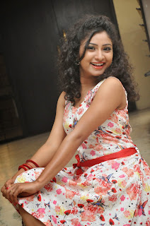 Actress Vishnu Priya Latest Pictures in Short Dress at Nenu Naa Friends Movie Press Meet 74