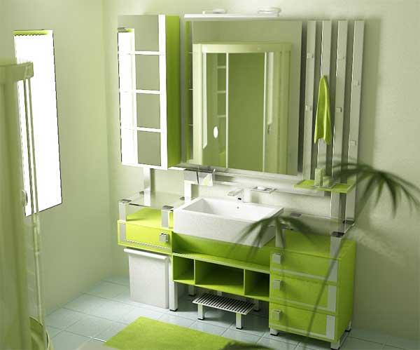 Lenceria De Baño Color Verde:decora y disena: 5 FOTOS DE CUARTOS DE BAÑO EN COLOR VERDE