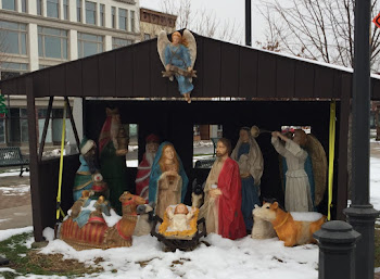Manger Scene Up on Public Square