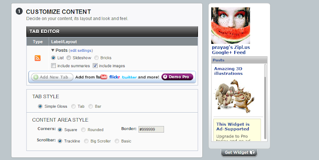 widgetbox widget customize