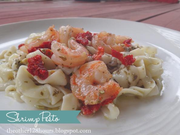 Shrimp Pesto with Tofu Noodles