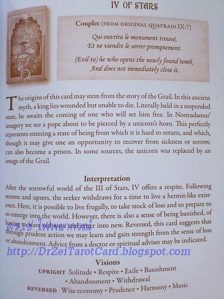 Nostradamus Tarot Lost book Four of Stars IV of Swords Meanings card deck ความหมายไพ่ยิปซี ความหมายไพ่สี่ดาบ ไพ่ 4 ดาบ ดวงดาว ไพ่ทาโร่ ไพ่ทาโรต์นอสตราดามุส ไพ่ทาโรต์ แปลไพ่ ไพ่หัวกลับ ไพ่กลับหัว Reversed Meaning