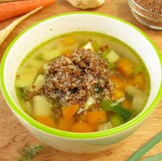 Sopa de quinoa light