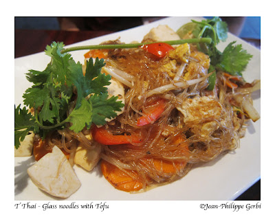 Image of Glass noodles with tofu at T Thai restaurant in Hoboken, New Jersey NJ