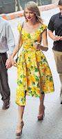 Taylor Swift - estilo vintage e retro vestido rodado às flores