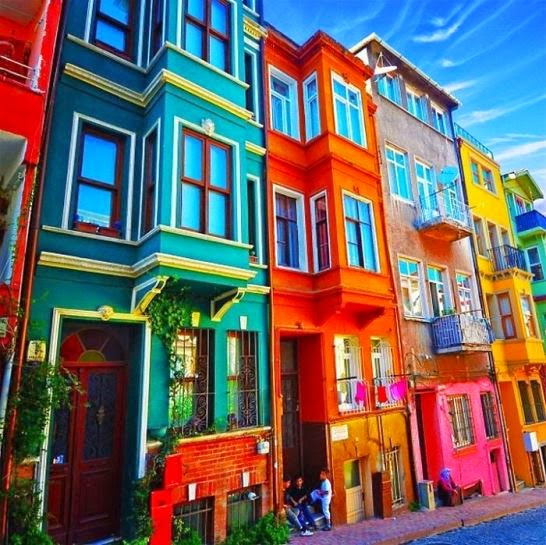 casas de colores exteriores