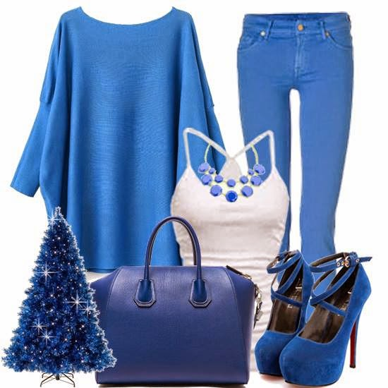 Blue Outfit Set For Spring