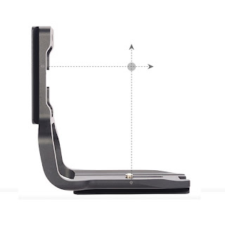 Sunwayfoto PCL-6DG Custom L Bracket centering marks illustration