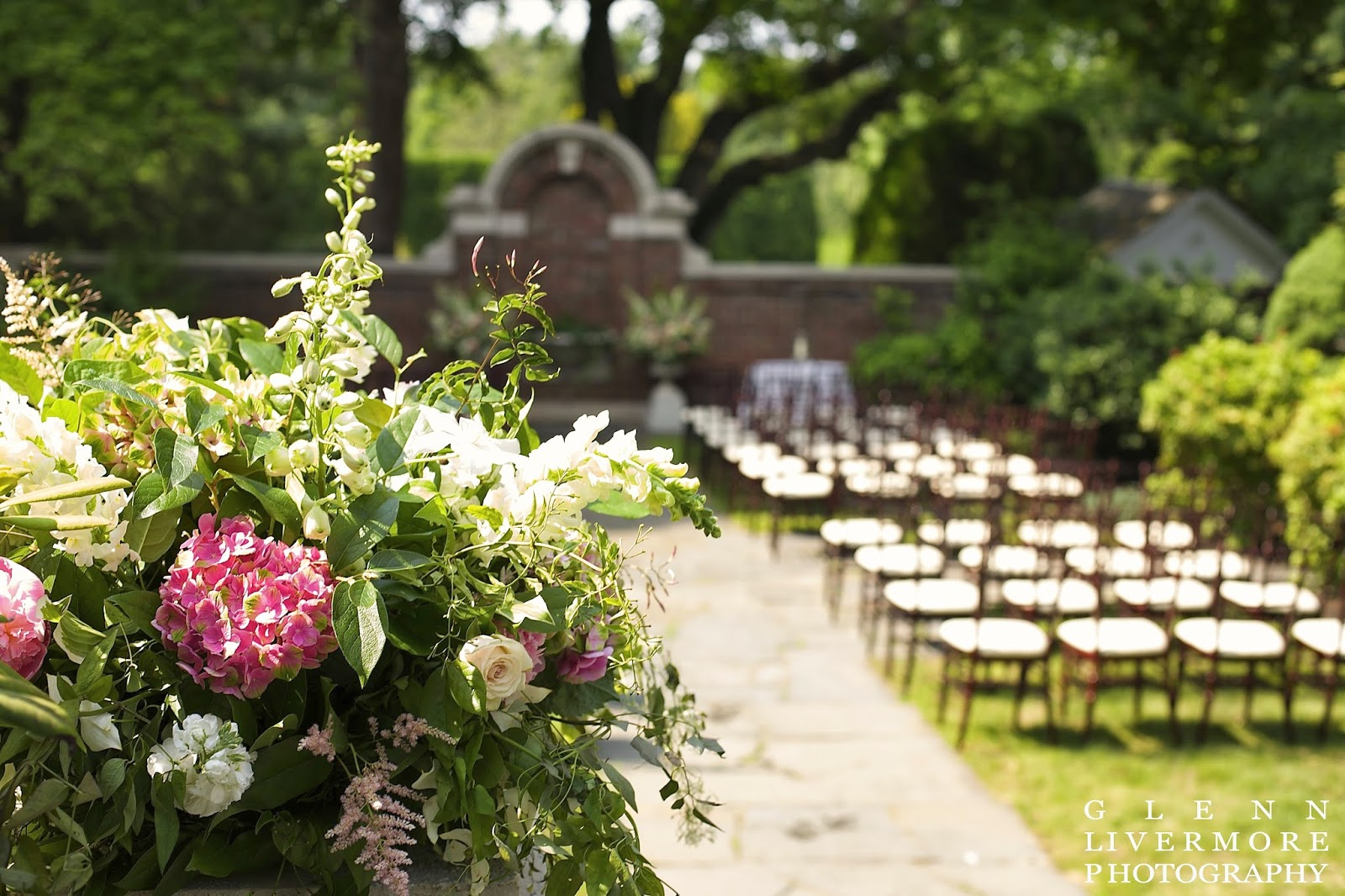 glenn livermore photography : les fleurs : lanam club : garden ceremony