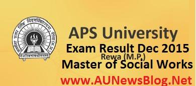 APS University exam results 2016 - aunewsblog