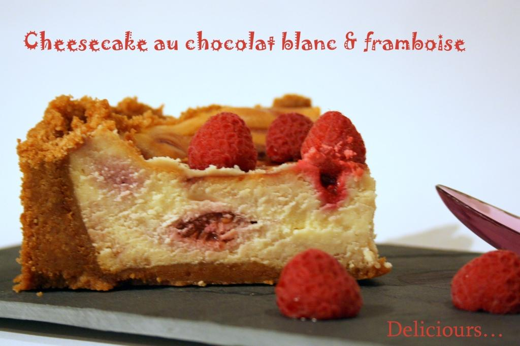 deliciours cheesecake au chocolat blanc et aux framboises. Black Bedroom Furniture Sets. Home Design Ideas