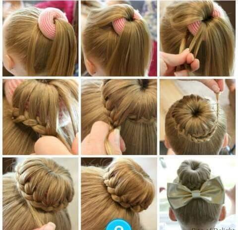 Легкие прически для девочки на длинные волосы с