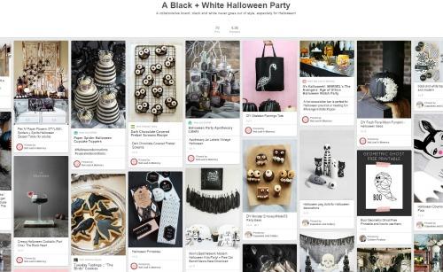 Black + White Halloween Party Pinterest board